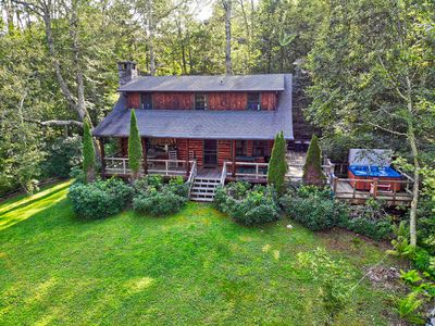 Photo for Winds Aloft ~Quaint Cabin with Grandfather Mountain views, Fire Pit, Hot Tub