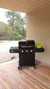 3-burner propane grill great for grilling local   meats and fish!