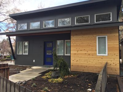 Big Lava in downtown Bend is a walker's dream! New construction on an original historic footprint, a fun small home study!