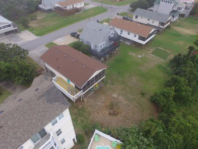 Photo for The Getaway is traditional OBX beach box, close to beach, with pool and hot tub