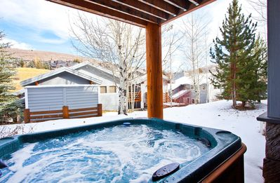 Photo for Tree-lined townhome w/ private hot tub & wood fireplace - bus to slopes!
