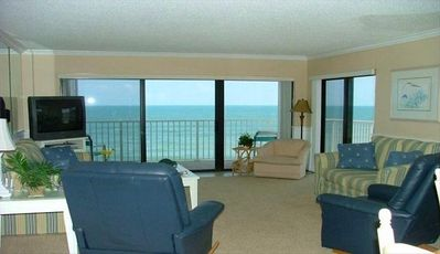 Great Room with large flatscreen cable TV.