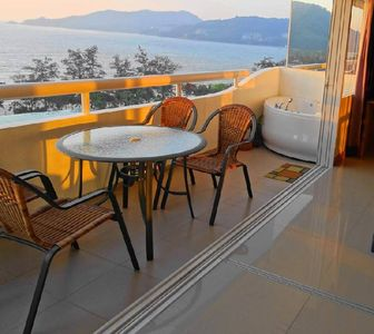 Photo for Patong Beach 2 BDR Seaview Condo 65sqm