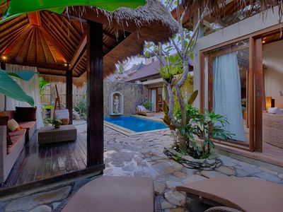 Photo for 4 BR Spacious Villa in Ubud with Balinese Ethnic Touch and Tatched Roof