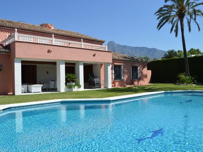 Photo for VILLA 34121043 GOLDEDN MILE MARBELLA, 7 BEDROOMS, SLEEPS 14, HUGE PRIVATE POOL, JUST 300m FROM BEACH