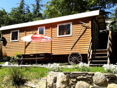Photo for Camping Les Jardins d'Estavar *** - Trailer 3 Rooms 4 People