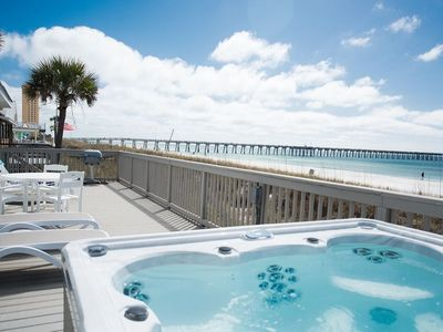 Photo for Beautiful Hot Tub Home Directly on the Beach - 7 Homes Down from Pier Park