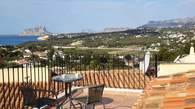 Photo for modern house with fantastic views over the sea, village and surrounding mountains.