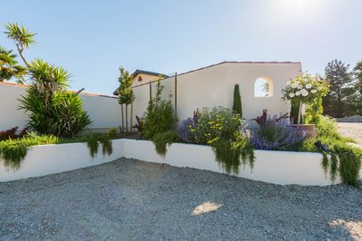 Beautiful landscaping around the Casita