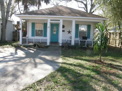 Photo for Cozy In Town Cottage! Walk to Everything! Pet Friendly!