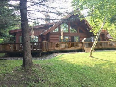 Photo for Beautiful, Family-Friendly Bay Lake Hand-Scribed Log Home