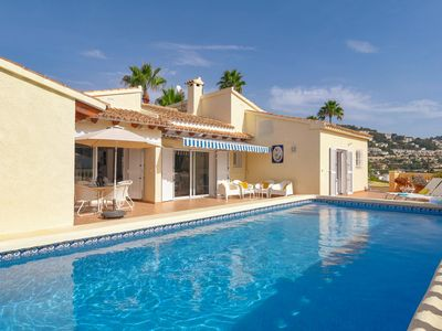 Photo for Detached house on a single floor with magnificent view near Moraira