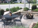 Stone garden Patio and Fire Pit