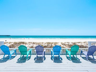 Photo for Fishers☀BEACHFRONT☀Home for up to 20 guests! Near Pier Park! OPEN June 1 to 8!