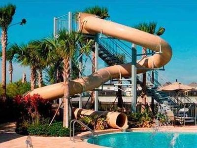 Waterslide in the community pool.  Great for the young and the young at heart!