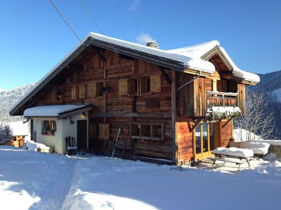 Photo for Large family chalet, view on Mont-Blanc massif, Saint-Nicolas-de-Véroce