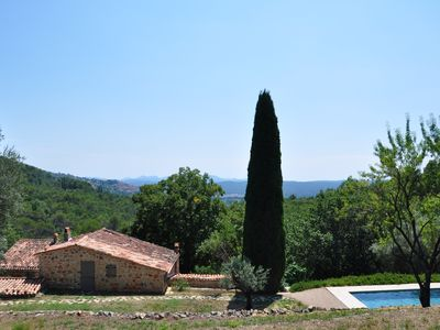 Photo for Stunning old stone houses near Seillans - magnificent views
