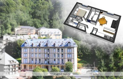 Photo for T2 + cab, charming residence Helios, comfortable, skiing, hiking, spa, wireless
