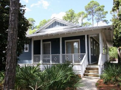 Photo for Bluegrass Bungalow - Seagrove Beach Home. dog friendly, private pool 3 bikes!