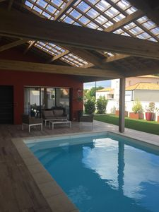 Photo for Villa 400m from the beach for 8 with indoor pool at the Fontaine aux Bretons