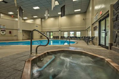 Revel in the community amenities like hot tubs and an indoor pool!