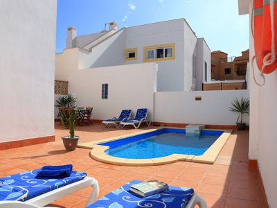Photo for 6 person villa with private pool Smart TV, Wifi and 35m² roof terrace