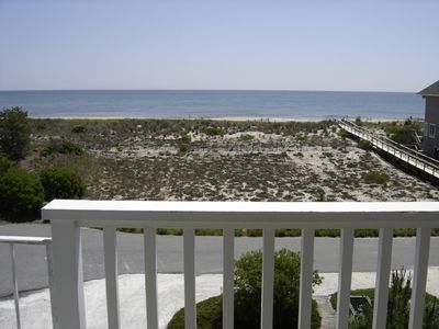 Photo for Spacious 3 story house one-lot-off the beach/ocean with unobstructed view!