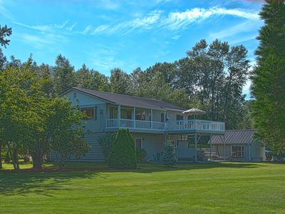 Photo for Skagit Valley Guest House bottom floor with stunning views of Mount Baker.