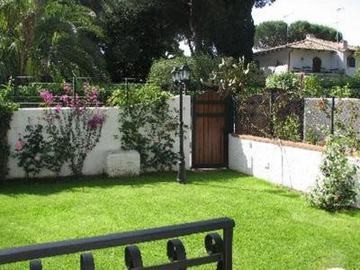 Photo for San Felice Circeo: Charming semi-subsoil apartment in Villa on the sea with direct access to the beach