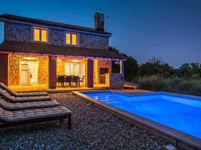 Photo for Stone villa with pool near a sandy beach, quiet, surrounded nature