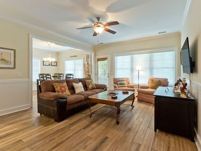 Photo for Large, 5 Bedroom Pet Friendly Home Just 1 Block from the Beach - Great for Large Groups!