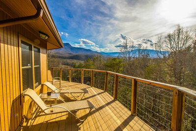 Upper Deck and just one of the mountain views of many!