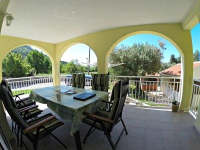 Photo for One bedroom apartment with balcony and sea view Zaostrog, Makarska (A-15656-b)