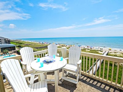 Photo for Oceanfront corner condo with views of the beach, sunrises!