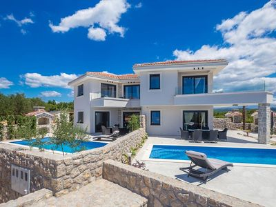 Photo for Modern and luxury holiday home  with private pool in Krk, Island Krk, Croatia for 6 persons