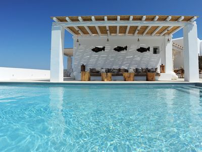 Photo for GRAND LYNIA LUXURY VILLA PANORMOS MYKONOS, 6 BEDROOMS 6 BATHROOMS, PRIVATE POOL, UP TO 12 GUESTS !