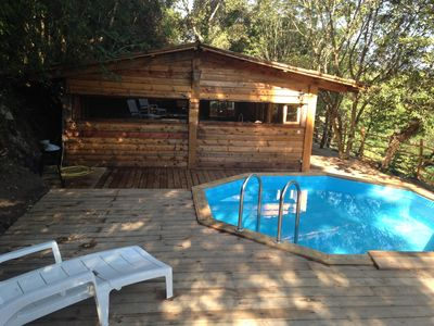 Photo for Cabin with swimming pool classified 2 stars
