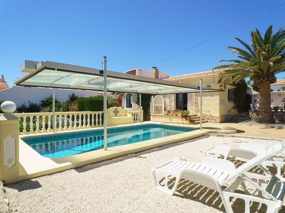 Photo for This 2-bedroom villa for up to 4 guests is located in Javea and has a private swimming pool and Wi-F