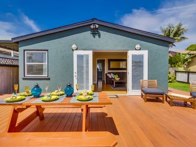 Photo for 20% OFF MAY - Beach Cottage, Walk to Water+Amazing Outdoor Living