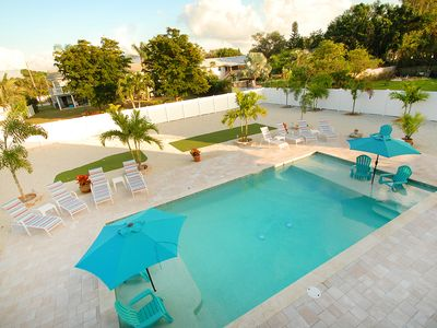 Photo for One of the LARGEST Saltwater heated/cooled pool and a resort like backyard!