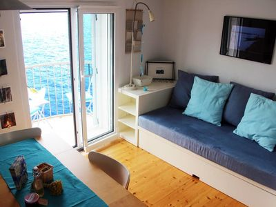 Photo for Blue Apartment with balcony and sea view