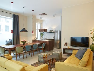 Photo for Magnificent 160sqm large apartment for up to 11 people in Pankow / Przl`Berg