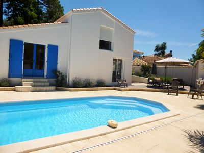 Photo for Villa la Palmyre with private heated pool.