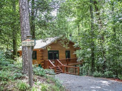 Photo for Boo Cabin-2Br/1Ba-Cabin With Access To Community Lake Sleeps 4,Hot Tub,Gas Grill