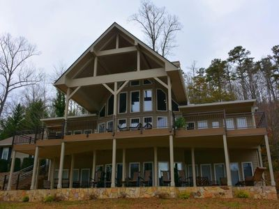 Photo for BEAUTIFUL LAKEFRONT MOUNTAIN HOME ON LAKE SANTEETLAH view of  GREAT SMOKY MTNS
