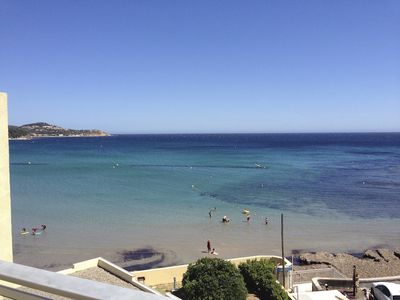 Photo for TB STUDIO ON THE BEACH OF SABLETTES WITH SEA VIEW (VAR)