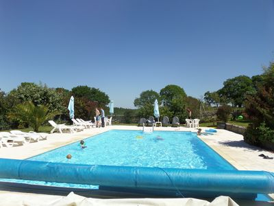 Heated large pool and fully enclosed with security gate