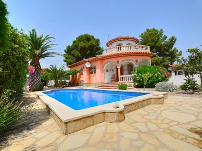 Photo for Detached tower villa with pool and private garden in Miami Platja