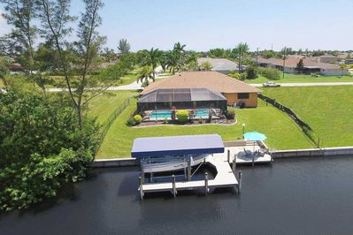 Aerial view w/canal