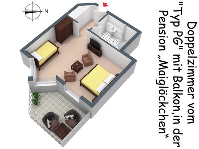 Photo for Offer Family Room - c) Pension Maiglöckchen (Double room incl. Breakfast)